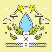 Vector de cuidados com a água