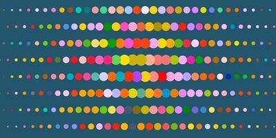 modelo multicolor com círculos.