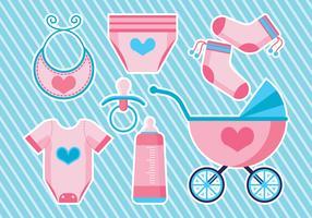 Conjunto de ícones Babyshower vetor