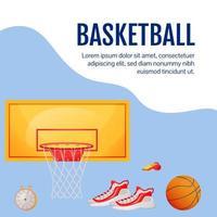 postagem de mídia social de basquete