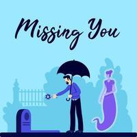 postagem de funeral na mídia social vetor