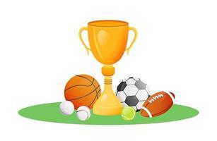 troféu do campeonato de esportes vetor