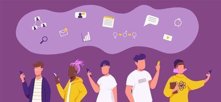geração z rede social vetor