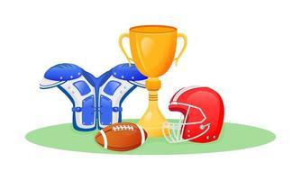 troféu de futebol americano vetor