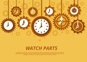 Vetor de relógio e engrenagem
