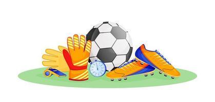objetos de equipamento de futebol vetor