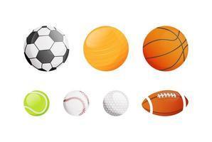 conjunto de objetos de esporte vetor