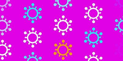 modelo azul, rosa com sinais de gripe.