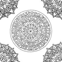 telha de mandala zentangle.