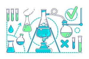 objetos de experimentos científicos vetor