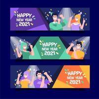 festa festiva de ano novo vetor