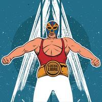 Ilustração da pose de Lucha Libre vetor