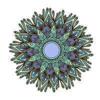 mandala de flores para cartões, gravuras e livros para colorir