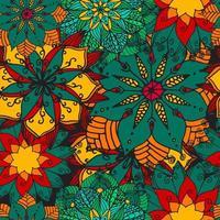 fundo de mandala de flores.