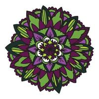 mandala zentangle para livro de colorir.
