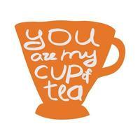 copo de chá. vetor