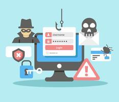 Vector de conta de phishing