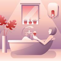 Vetor relaxante do banheiro