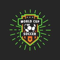 Emblema do logotipo do vetor do copo do mundo