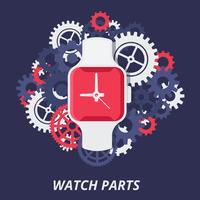 vetor de relógio moderno e inteligente
