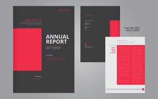 Relatório anual Modelo de design plano geométrico elegante vetor