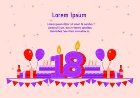 18º aniversário vetor