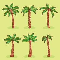 Vector de coleção de palmeiras