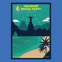 Ano novo do Brasil vetor