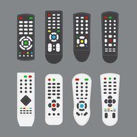 Coleção remota de TV gratuita vetor