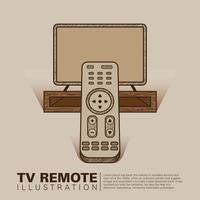 Ilustração remota da TV vetor
