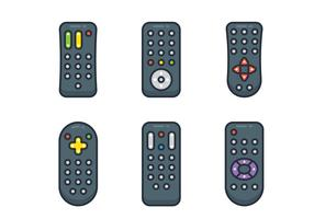Conjunto de controle remoto de TV vetor