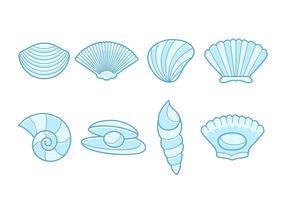 Coleção livre de vetores de marisco de mar
