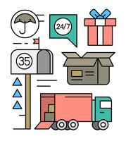 Elementos do vetor de entrega gratuita
