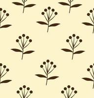 padrão sem emenda de flores pretas vetor