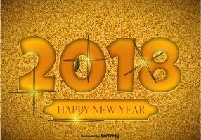 2018 Ilustração do Feliz Ano Novo vetor