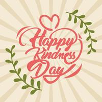 Free happy kindness day word vector