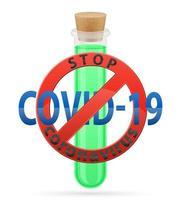 vírus em tubo de ensaio vacina coronavírus