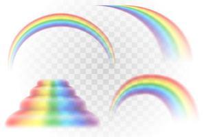 conjunto realista multicolor arco-íris