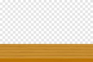 tampo de mesa de madeira vetor