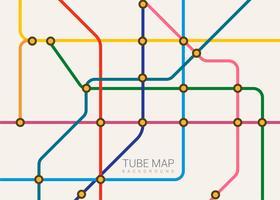 Fundo plano do mapa do tubo vetor