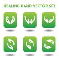 Ícones de vetor de mãos curadoras