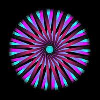 espirógrafo espiral circular abstrato vetor