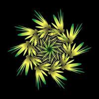 flor amarela em forma de fractal vetor