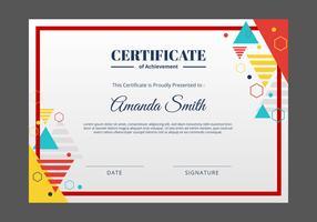 Modelo de Certificado vetor