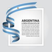 fita da bandeira da onda abstrata da argentina vetor