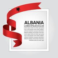 fita bandeira onda abstrata albania vetor