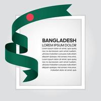 fita bandeira onda abstrata bangladesh vetor