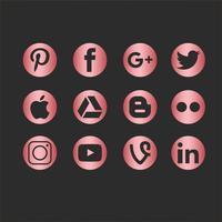 Ícone de ícones de mídia social vetorial vetor