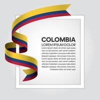 fita bandeira onda abstrata colômbia vetor