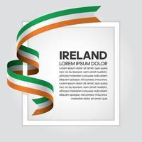 fita bandeira onda abstrata da irlanda vetor